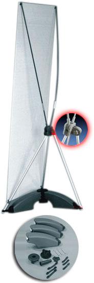 Portabanner X-Spider para exterior con water tank